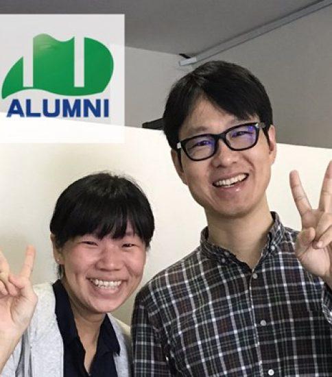 台北で卒業生と会いました!